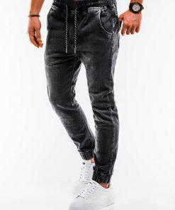 Juodi jogger vyriški džinsai internetu pigiau P907 14660-4