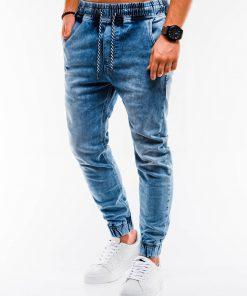Šviesiai mėlyni jogger vyriški džinsai internetu pigiau P907 14661-2