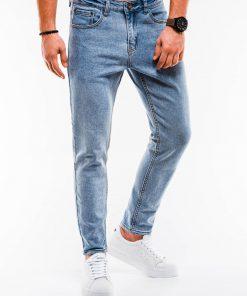 Šviesiai mėlyni stilingi džinsai vyrams internetu pigiau P888 14663-1