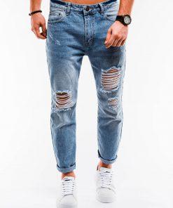 Plėšyti džinsai vyrams internetu pigiau P889 14665-4