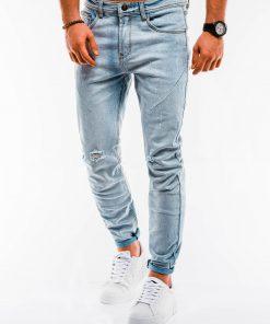 Šviesiai mėlyni plėšyti džinsai vyrams internetu pigiau P890 14669-6
