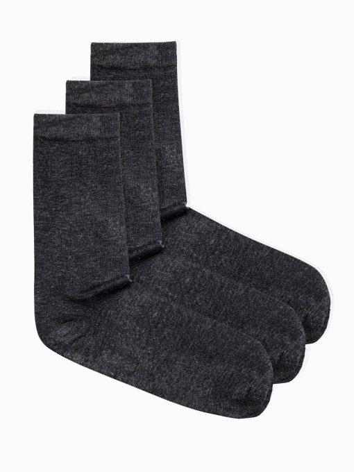 Tamsiai pilkos kojinės vyrams internetu pigiau U69 3vnt 14674-1