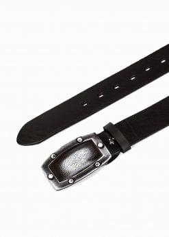 Juodas odinis diržas vyrams internetu pigiau A035 3183_2
