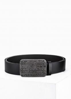 Juodas odinis vyriškas diržas internetu pigiau Laks A039 3187-1