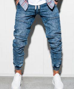 Mėlyni jogger džinsai vyrams internetu pigiau P551 5453-1