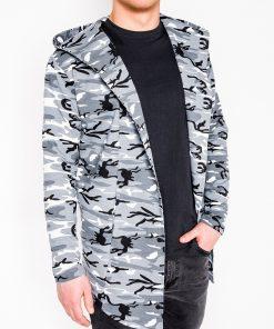 Juodas kamufliažinis vyriškas džemperis internetu pigiau B703 5812-1