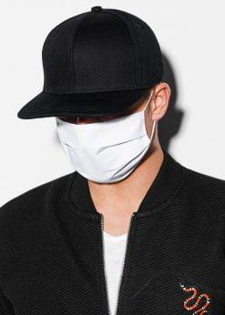 Balta medvilninė daugkartinė veido kaukė pigiau A260 14677-1