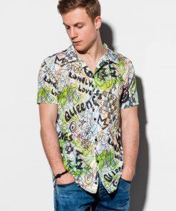 Marginti vyriški marškiniai trumpomis rankovėmis internetu pigiau K546 14712-1