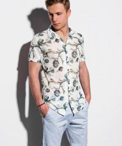 Gėlėti vyriški marškiniai trumpomis rankovėmis internetu pigiau K547 14713-1