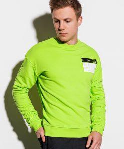 Žalias vyriškas megztinis internetu pigiau B1046 14720-4