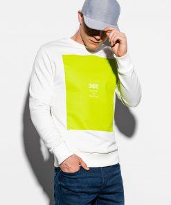 Baltas vyriškas džemperis internetu pigiau B1045 14721-1