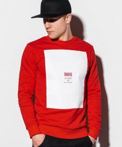 Raudonas vyriškas džemperis internetu pigiau B1045 14723-1