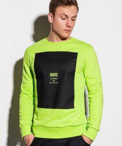 Žalias vyriškas džemperis internetu pigiau B1045 14724-1