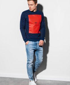 Tamsiai mėlynas vyriškas džemperis internetu pigiau B1045 14725-1