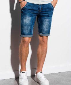 Mėlyni džinsiniai šortai vyrams internetu pigiau W057 14732-3