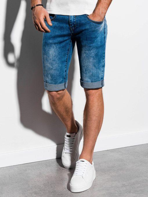 Mėlyni džinsiniai šortai vyrams internetu pigiau W058 14733-1