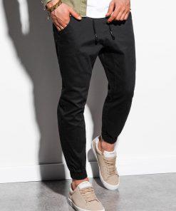 Juodos jogger vyriškos kelnės internetu pigiau P885 14799-1