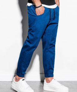 Mėlynos jogger vyriškos kelnės internetu pigiau P885 14801-1