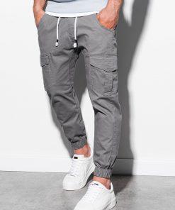 Pilkos jogger vyriškos kelnės internetu pigiau P886 14808-1