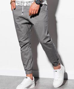 Pilkos jogger vyriškos kelnės internetu pigiau P885 14810-1