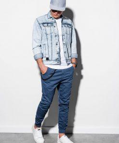 Šviesiai mėlyna džinsinė striukė vyrams internetu pigiau C441 14812-1