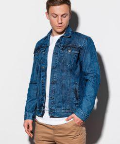 Mėlyna džinsinė striukė vyrams internetu pigiau C441 14813-1