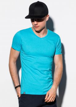 Šviesiai-mėlyni-vienspalviai-vyriški-marškinėliai-internetu-pigiau-S1041-13223-2-2