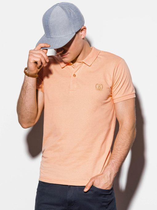 Šviesiai oranžiniai polo marškinėliai vyrams internetu pigiau S1048 13242-3