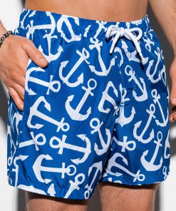 Mėlyni paplūdimio šortai vyrams su inkarais internetu pigiau W139 13533-3