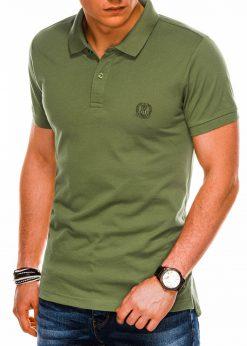 Chaki spalvos vyriški polo marškinėliai internetu pigiau S1048 14916-1