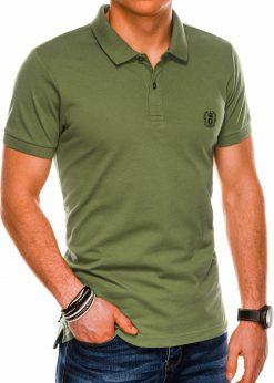 Chaki polo marškinėliai vyrams internetu pigiau S1048 14916-4