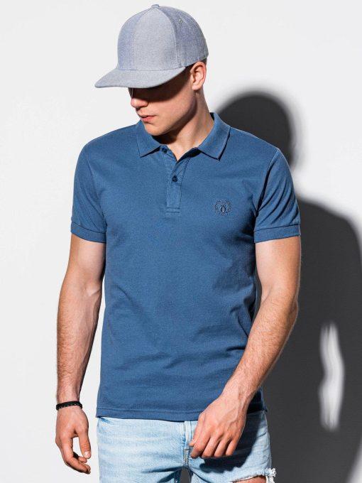 Tamsiai žydri polo marškinėliai vyrams internetu pigiau S1048 14917-2