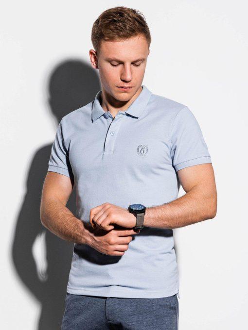 Šviesiai mėlyni vyriški polo marškinėliai internetu pigiau S1048 14918-2