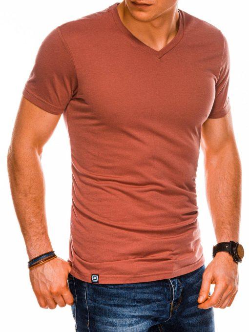 Plytiniai vienspalviai vyriški marškinėliai internetu pigiau S1041 14919-1
