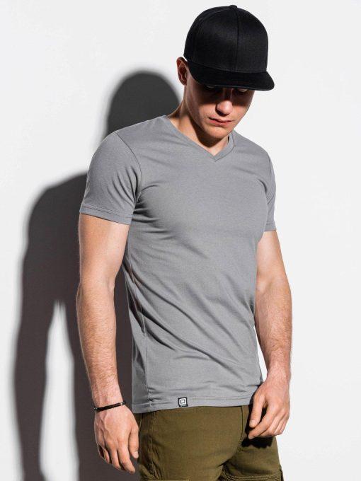 Pilki vienspalviai vyriški marškinėliai internetu pigiau S1041 14922-2