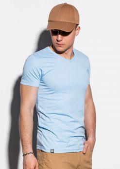 Žydri vienspalviai vyriški marškinėliai internetu pigiau S1041 14923-3