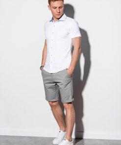 Balti marškiniai vyrams trumpomis rankovėmis internetu pigiau K541 15012-1