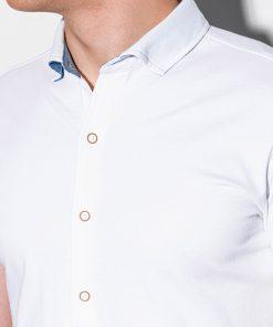 Balti marskiniai vyrams trumpomis rankovemis internetu pigiau K541 15012-3