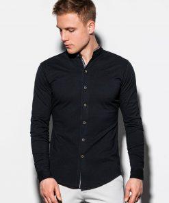 Stilingi juodi vyriški marškiniai ilgomis rankovėmis internetu pigiau K542 15019-2