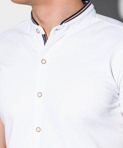 Balti marskiniai vyrams trumpomis rankovemis internetu pigiau K543 15026-4