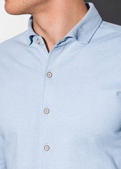 Stilingi mėlyni vyriški marškiniai ilgomis rankovėmis internetu pigiau K540 15028-4