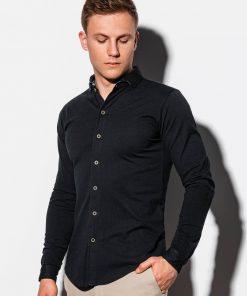 Stilingi juodi vyriški marškiniai ilgomis rankovėmis internetu pigiau K540 15030-4