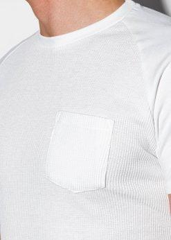 Balti vienspalviai vyriski marskineliai internetu pigiau S1182 15033-2