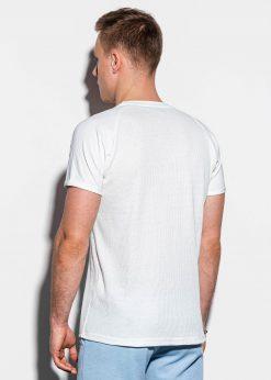 Balti marskineliai vyrams internetu pigiau S1182 15033-3