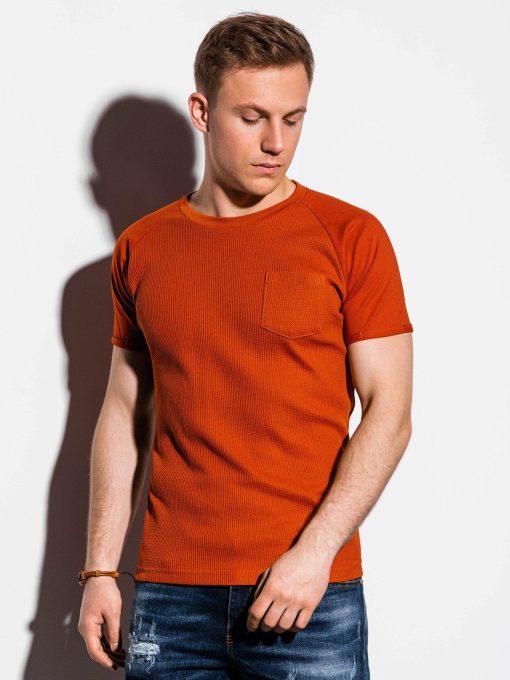 Plytiniai vienspalviai vyriški marškinėliai internetu pigiau S1182 15034-1
