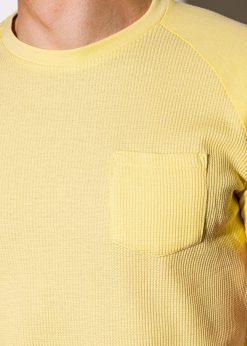Geltoni vienspalviai vyriski marskineliai internetu pigiau S1182 15035-2