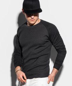 Juodi vyriški marškinėliai ilgomis rankovėmis internetu pigiau L119 15043-1