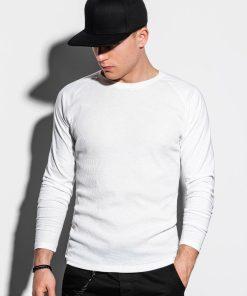 Balti vyriški marškinėliai ilgomis rankovėmis internetu pigiau L119 15044-1