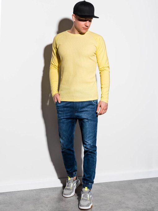 Geltoni vyriški marškinėliai ilgomis rankovėmis internetu pigiau L119 15045-1