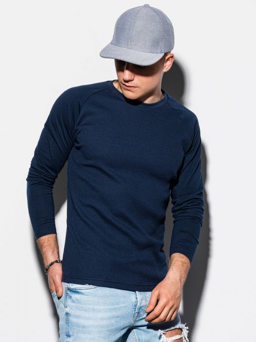 Tamsiai mėlyni vyriški marškinėliai ilgomis rankovėmis internetu pigiau L119 15046-1